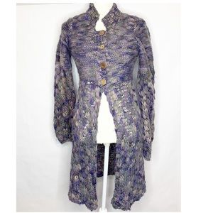 Free People | Purple Crochet Knit Duster